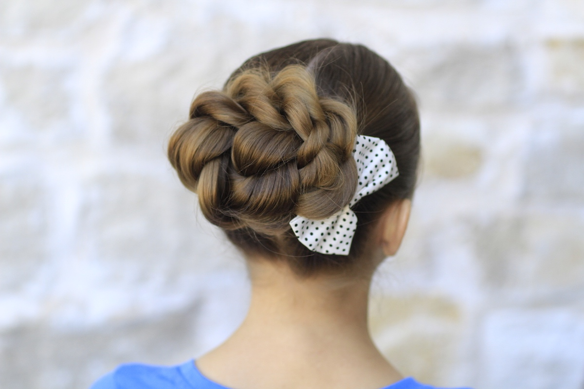 Rope Twisted Bun   Prom Hairstyles